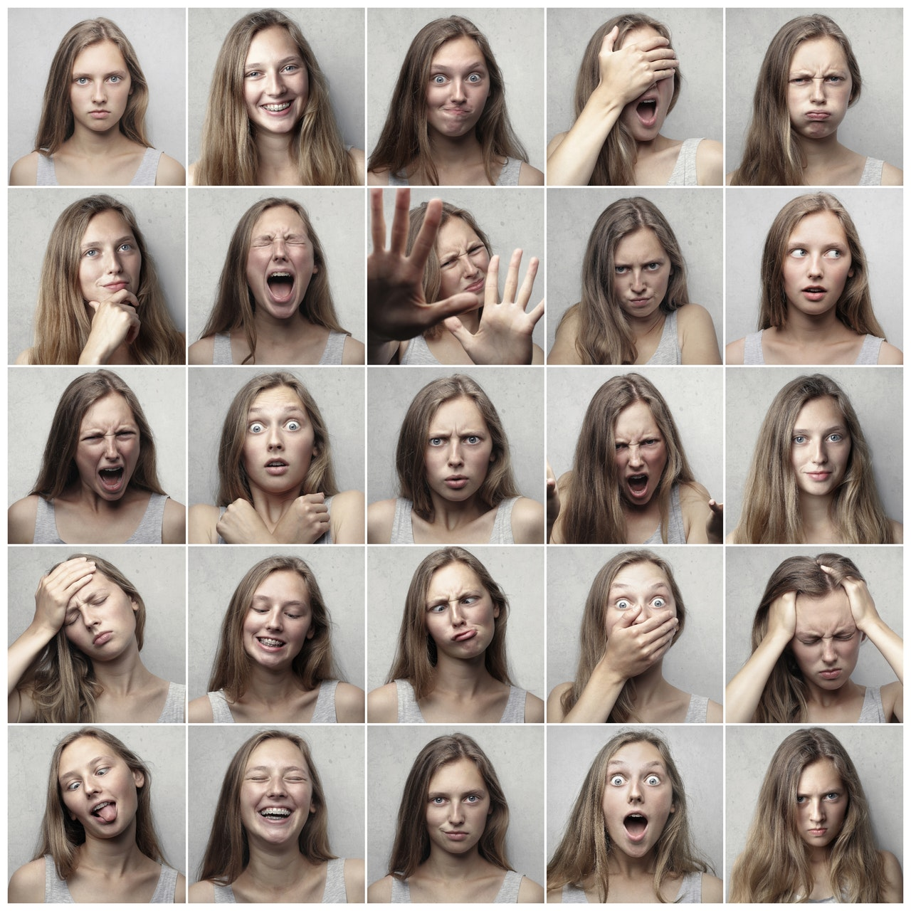 Collage Photo of Faces Showing Emotion