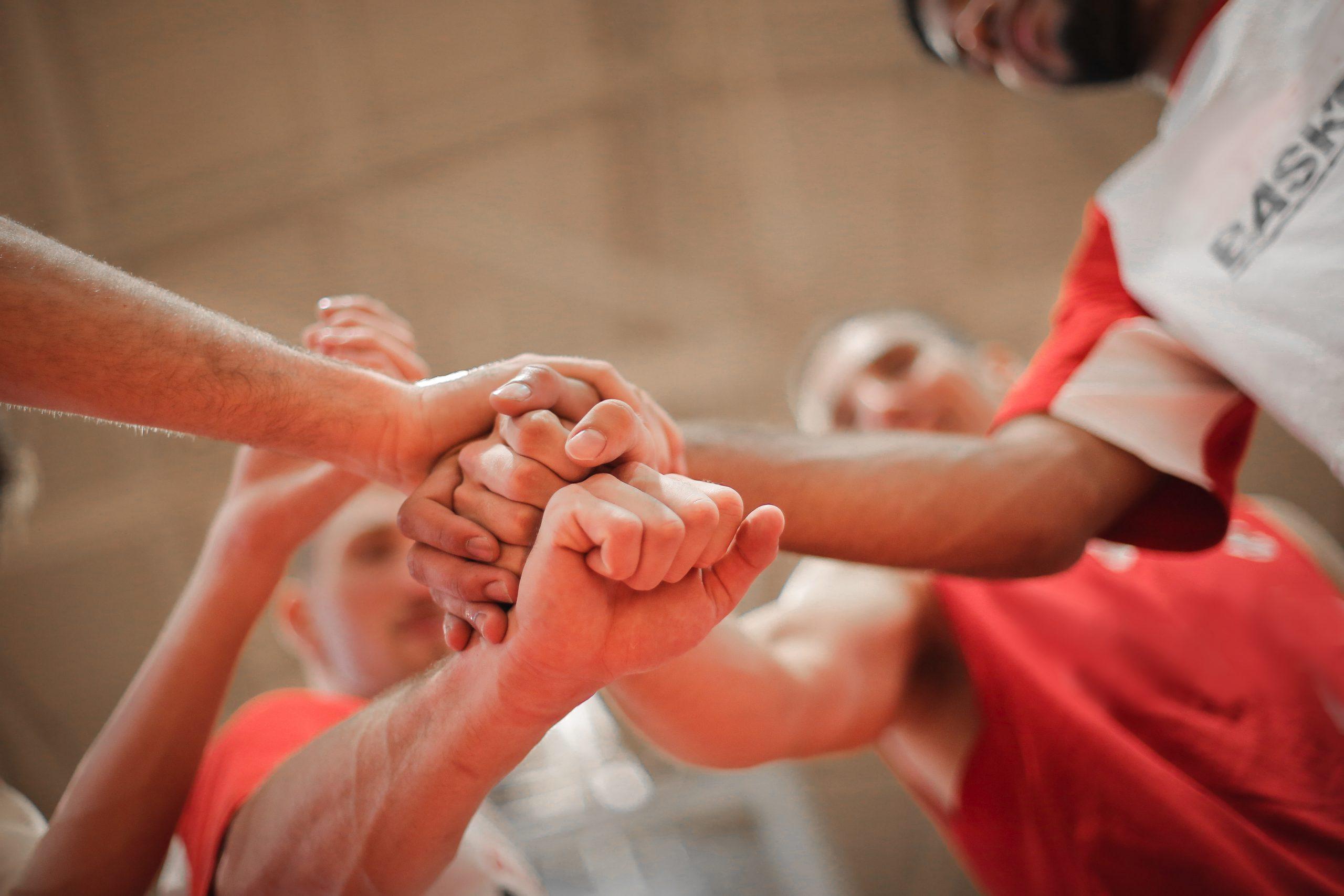 People skills hands together